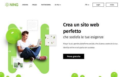 Screenshot of ning.com - NING: Creare un sito web social - Sito web costruttore gratis - captured June 3, 2017