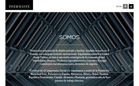 Screenshot of Home Page inveravante.com - Inveravante - Corporación fundada en 2007 en A Coruña - captured Oct. 15, 2017