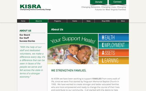 Screenshot of About Page kisra.org - KISRA :: About Us - captured June 9, 2017