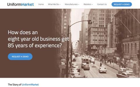 Screenshot of About Page uniformmarket.com - UniformMarket | About US - Uniform E-Commerce Platform Provider - captured Oct. 9, 2014