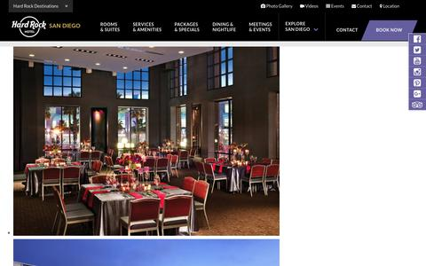 San Diego Reception Venue – Party Venues in Downtown Gaslamp District – Hard Rock Hotel SD