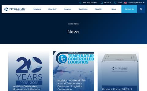 Screenshot of Press Page intelsius.com - News Archive - Intelsius UK - captured Oct. 7, 2018