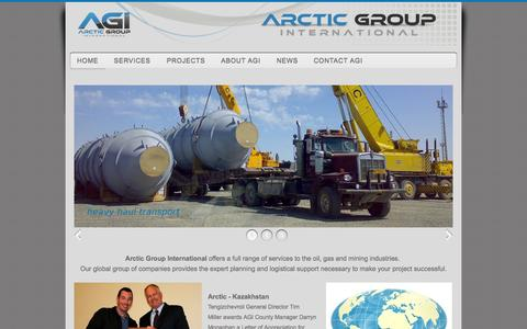 Screenshot of Home Page arctic-group.com - Arctic Group International - captured Oct. 4, 2014