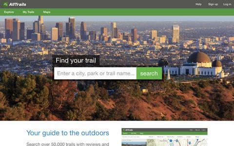 Screenshot of alltrails.com - Discover Camping, Hiking, Mountain Biking & Other Outdoor Trails | AllTrails.com - captured March 19, 2016
