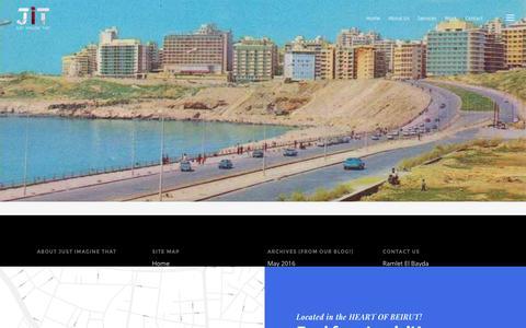 Screenshot of Contact Page jitofficial.com - Contact |  JIT – Just Imagine That | Digital Agency | Web Development | Web design | Social Media | Mobile Development | KSA | UAE | Lebanon - captured Nov. 27, 2016