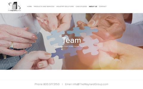 Screenshot of Team Page themaynardgroup.com - Team — The Maynard Group - captured June 15, 2017