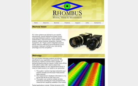 Screenshot of Services Page rhombusvs.co.uk - Rhombus VS Ltd. - captured Oct. 7, 2014
