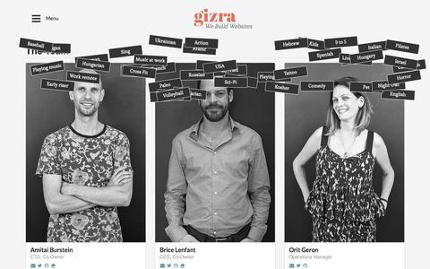 Screenshot of Team Page gizra.com - The Team - captured July 5, 2017