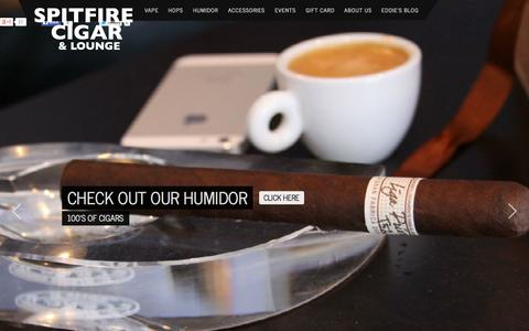 Screenshot of Home Page spitfirecigar.com - SpitFire Cigar Nashville's Best Cigars and Accessories! - captured Jan. 26, 2015