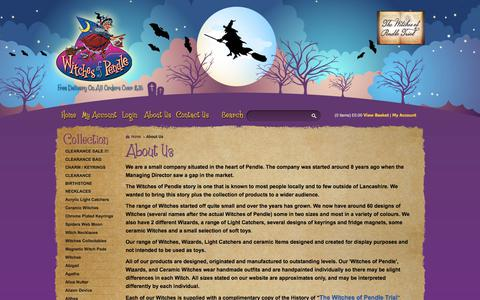 Screenshot of About Page witchesofpendleshop.com - About Us - Witches of Pendle - Pendle Witches Collectables & Gifts - captured Nov. 7, 2017