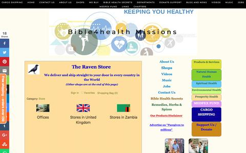 Screenshot of Home Page bible4healthmissions.com - Bible4health Missions - captured Aug. 2, 2018