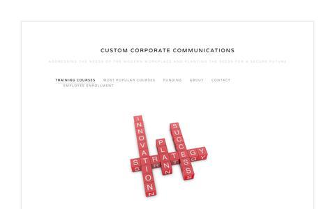 Screenshot of Menu Page c3train.com - Training Courses — Custom Corporate Communications - captured Sept. 30, 2018