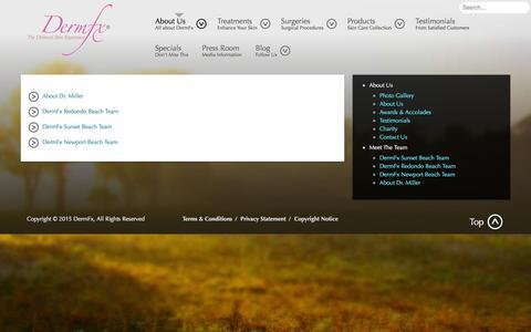 Screenshot of Team Page dermfx.com - Meet The Team - DermFx - captured Feb. 9, 2016