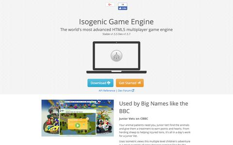 Screenshot of Home Page isogenicengine.com - Isogenic Game Engine - captured Nov. 8, 2018