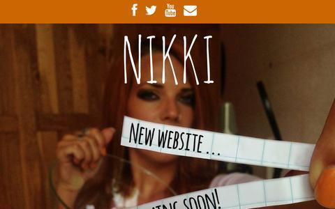 Screenshot of Home Page nikki-k.nl - Nikki - The official website - captured Oct. 10, 2015