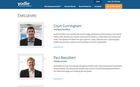 Screenshot of Team Page yodle.com - Yodle Leadership | Management Team - captured Sept. 17, 2014