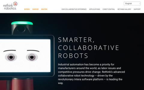 Rethink Robotics | Smart Collaborative Robots | Advanced Automation Technology