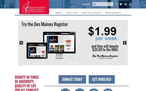 Screenshot of Home Page rmhdesmoines.org - RMH Des Moines | The House That Love Built - captured Dec. 1, 2016