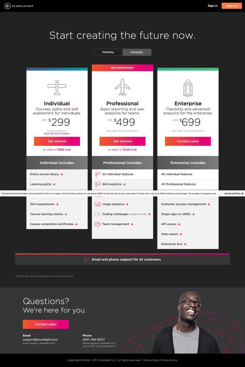 Web Design Timeline | A page on pluralsight com | Crayon