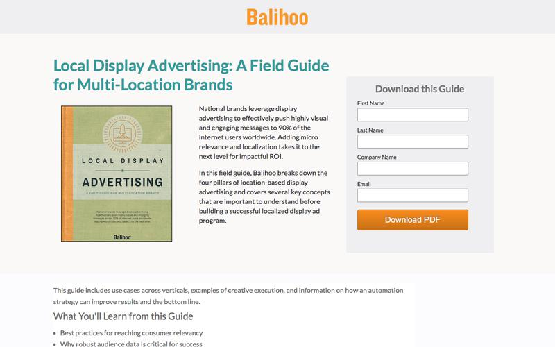 Local Display Advertising: a Field Guide for Multi-Location Brands