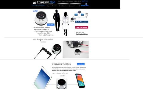 Screenshot of Home Page thinklabs.com - Thinklabs One Digital Stethoscope - captured Jan. 12, 2016