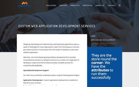 Screenshot of Services Page metricfox.com - Custom Web Application Development Company | Web App Development - captured March 2, 2018