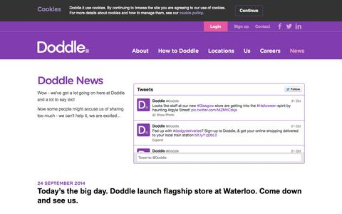 Screenshot of Press Page doddle.it - Doddle  | News - captured Nov. 3, 2014