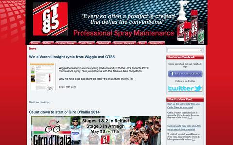 Screenshot of Press Page gt85.co.uk - News Archives - GT85 Professional Spray MaintenanceGT85 Professional Spray Maintenance - captured Sept. 27, 2014
