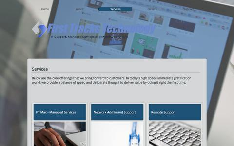 Screenshot of Services Page fttechnology.com - fttechnology | Services - captured Oct. 13, 2017
