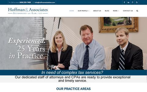 Screenshot of Home Page hoffmanestatelaw.com - HOME - Hoffman Estate Law - captured Nov. 9, 2016