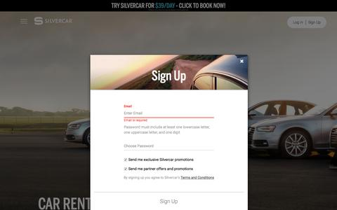 Screenshot of Signup Page silvercar.com - Silvercar | Car rental the way it should be. - captured Oct. 14, 2016
