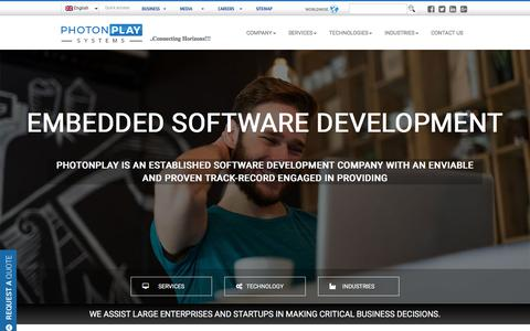 Screenshot of Services Page photonplay.com - Photonplay:: Software Development & Global Core IT Solutions - captured July 18, 2018
