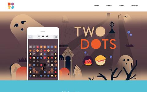 Screenshot of Home Page weplaydots.com - Dots - Home - captured Oct. 28, 2015