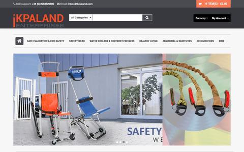 Screenshot of Home Page ikpaland.com - IKPALAND Enterprises: Safety Equipment Suppliers - captured Sept. 8, 2016