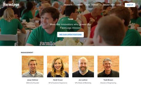 Screenshot of Team Page farmlogs.com - Meet the People Powering the FarmLogs Mission - captured Jan. 16, 2017