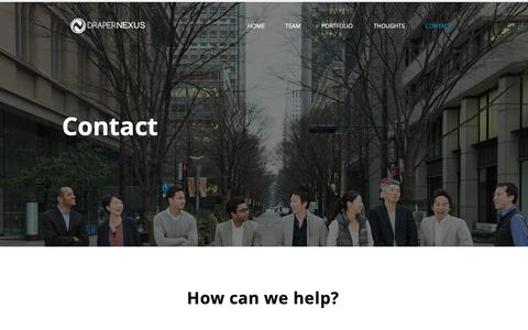 Screenshot of Contact Page drapernexus.com - Draper Nexus | CONTACT - captured Oct. 9, 2018