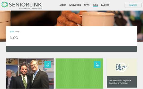 Screenshot of Blog seniorlink.com - Caregiving Blog   Seniorlink - captured July 17, 2017