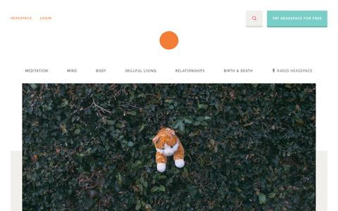 Screenshot of Blog headspace.com - Headspace | The Orange Dot - captured Dec. 24, 2015