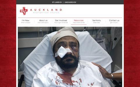 Screenshot of Blog aucklandev.co.nz - Blog   Auckland Evangelical Church - captured Nov. 21, 2016