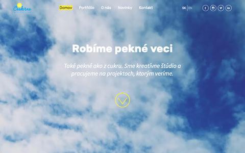 Screenshot of Home Page cukru.sk - Domov - Cukru - captured Sept. 30, 2018