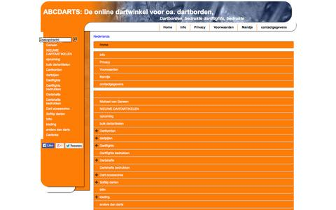 Screenshot of Site Map Page Menu Page abcdarts.nl - Map - captured Oct. 23, 2014