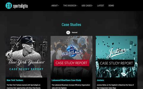Screenshot of Case Studies Page sportsdigita.com - Case Studies | Sportsdigita - captured Dec. 11, 2018