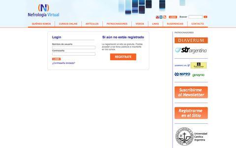 Screenshot of Login Page nefrologiavirtual.com - Login / Usuario - captured Oct. 26, 2014