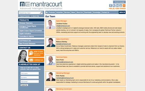 Screenshot of Team Page mantracourt.com - Our Team - captured Sept. 24, 2014