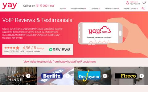 Screenshot of About Page yay.com - Hosted VoIP Reviews, Testimonials & Case Studies | Yay.com - captured Nov. 2, 2018