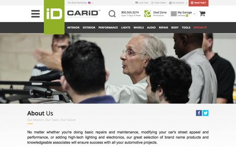 Screenshot of About Page carid.com - CARiD.com - ABOUT US - captured Dec. 3, 2015