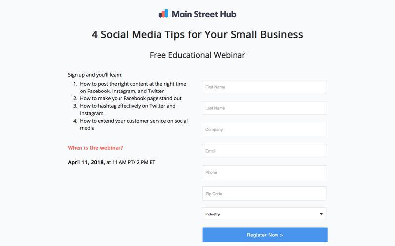Main Street Hub Webinar