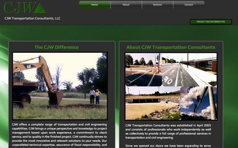 Screenshot of Home Page gocjw.com - CJW Transportation Consultants, LLC - captured Oct. 1, 2014
