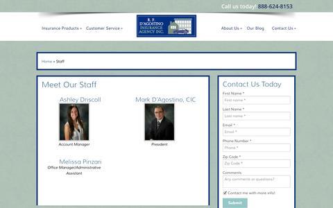 Screenshot of Team Page rfdinsurance.com - Our Team | R. F. D'Agostino Insurance Agency - captured Oct. 26, 2014