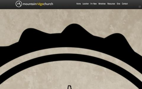 Screenshot of Home Page mountainridge.org - Mountain Ridge Church - captured Oct. 8, 2014